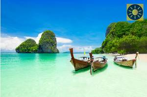 Thailand Longboote am James Bond Strand